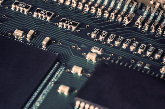 Circuit board with computer chip