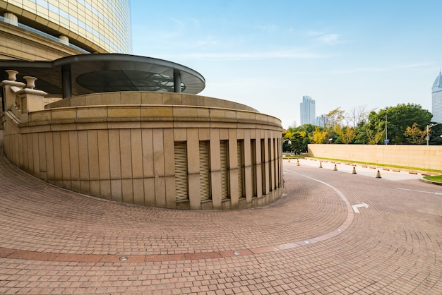 Circular hotel walkway in shanghai, china