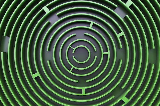 円形の迷路の背景。
