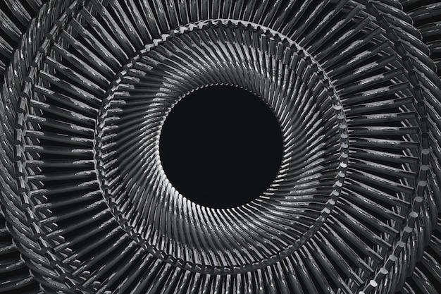 円形繰り返し金属片パターン3 dイラスト