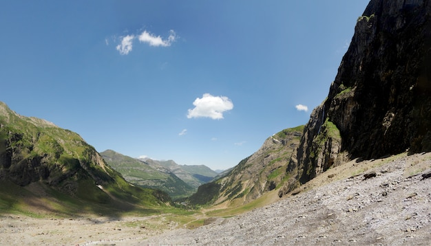 Circus of gavarnie in french haute pyrenees mountains