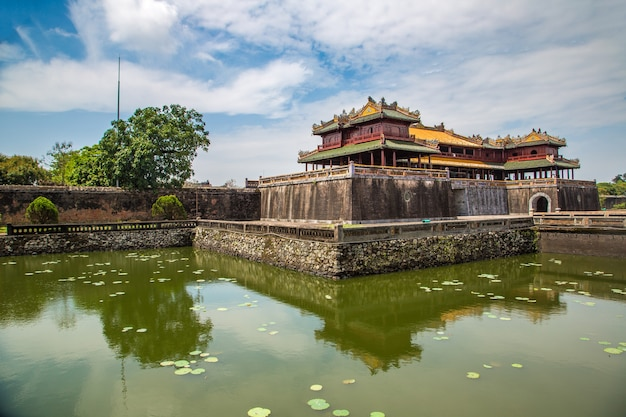 Citadel, imperial royal palace, forbidden city in hue, vietnam