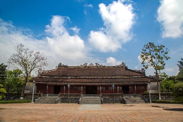 Citadel at imperial royal palace, forbidden city in hue, vietnam