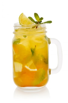Citrus cocktail with mint