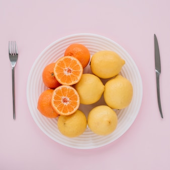 Citrus in a dish