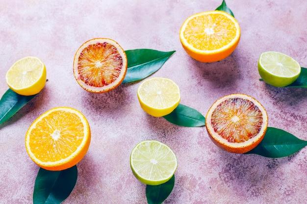 柑橘系の果物、上面図