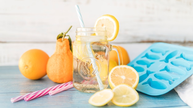 Citrus and items for prepare refreshing drinks