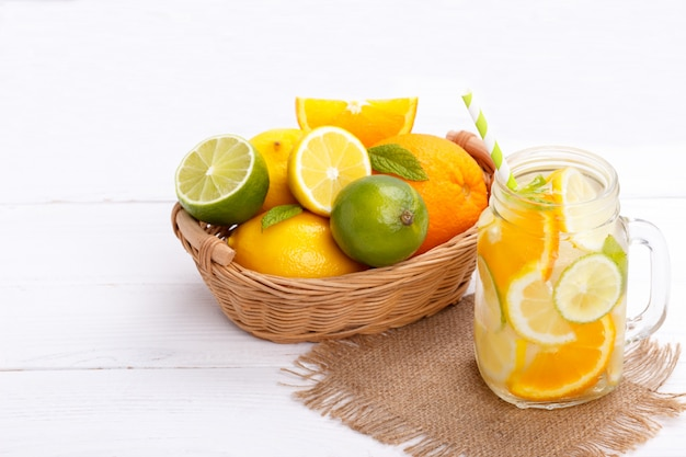 Цитрусовый лимонад настоянная вода