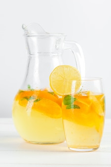Citrus lemonade, summer drink.