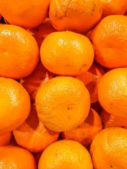 Citrus mandarin fruit closeup ripe