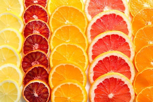 表面としての柑橘類のスライス