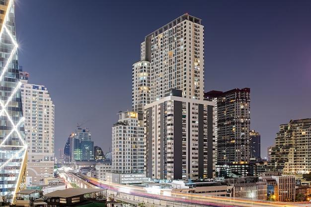 街と建物の写真 タイ、バンコクの中心部