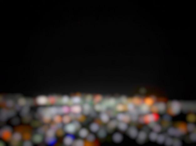 City bokeh light blur background.