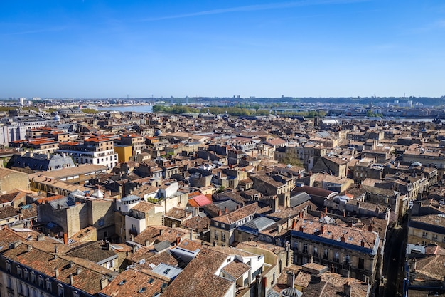 City of bordeaux aerial view, france