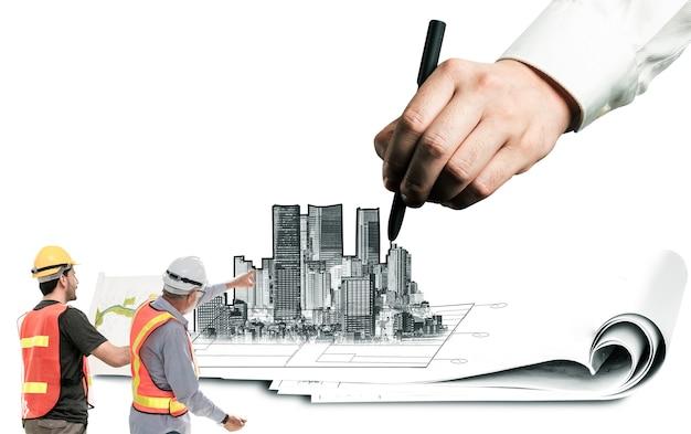 Градостроительное планирование и развитие недвижимости Premium Фотографии