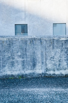 City concrete wall