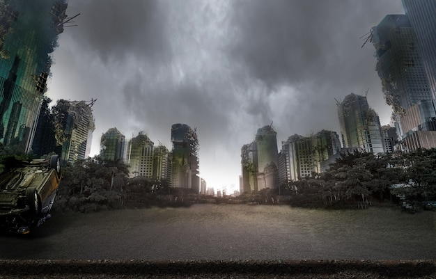 City destroyed by war