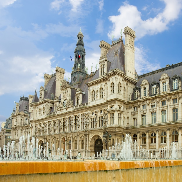 City hall ( hã´tel de ville) of paris, france