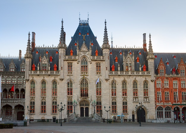 City hall  in old town, bruges, belgium