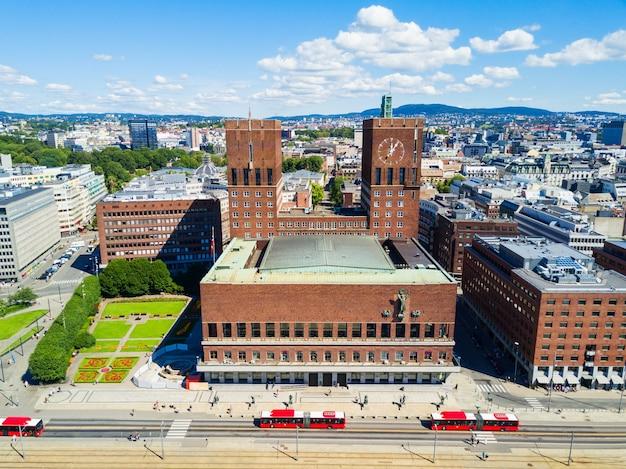 ノルウェー、オスロの市庁舎またはradhus