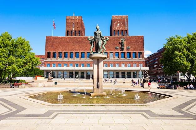 노르웨이 오슬로의 시청 또는 radhus