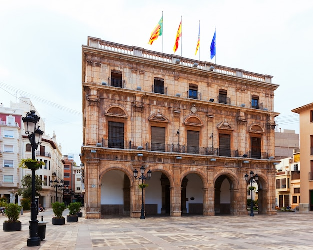 City hall in  town square. castellon de la plana