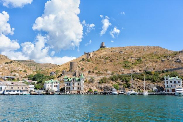 クリミア半島の街並みと黒海沿岸のリゾートタウン
