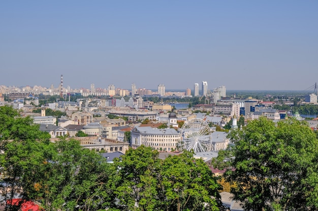 City landscape view of kiev