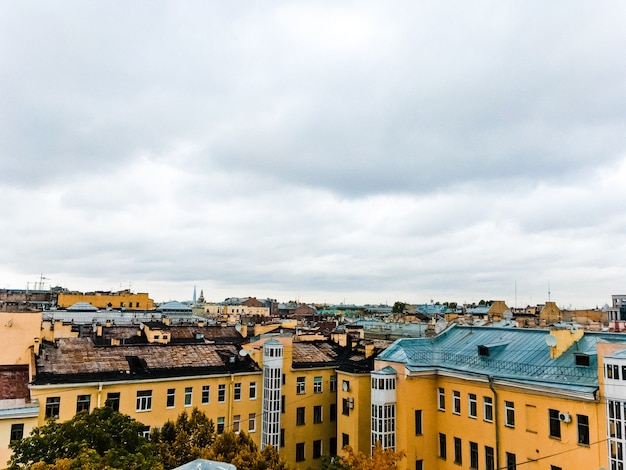 City landscape with a view of the rooftops of st. petersburg 1