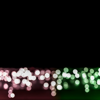 City light bokeh background with copy space for writing the text