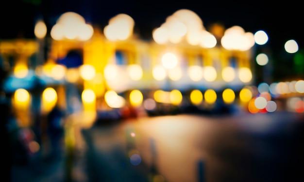 City light ночная жизнь расфокусированная размытая сияющая абстрактная концепция