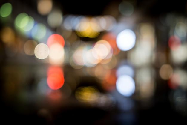 City night blurred traffic lights