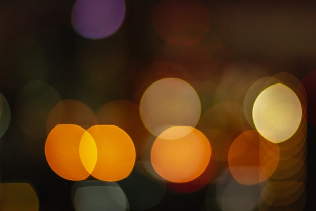 City night orange light blur bokeh, defocused background