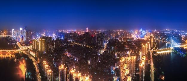 中国福建省福州市の夜景