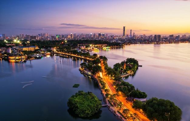Город ханой, вид с воздуха