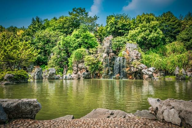 Il parco cittadino con il lago