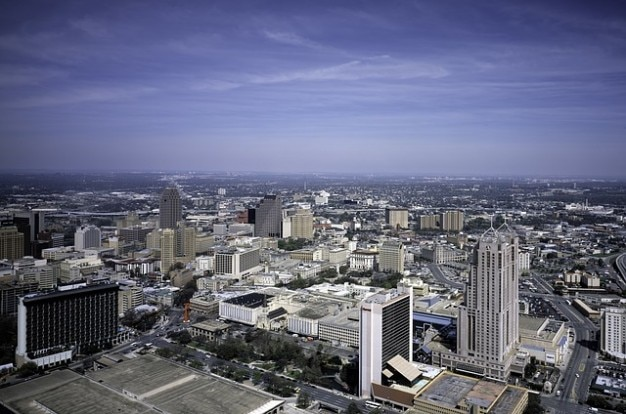 City san downtown antonio texas skyline building