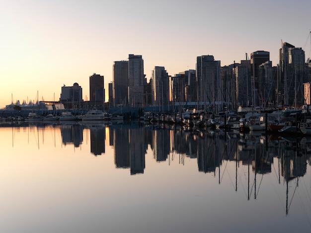 City skyline of vancouver, british columbia, canada