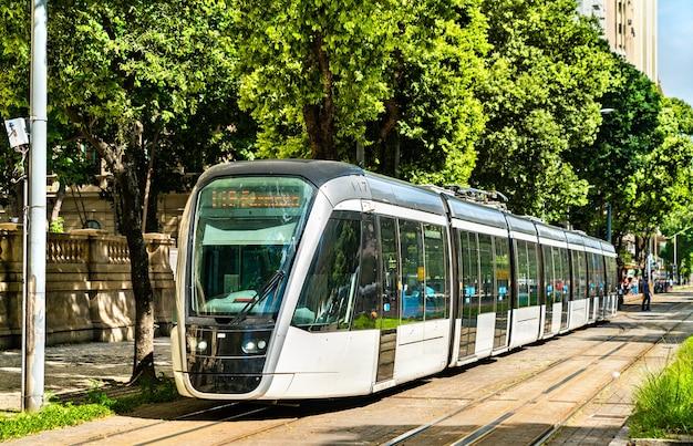 City tram in rio de janeiro, brazil
