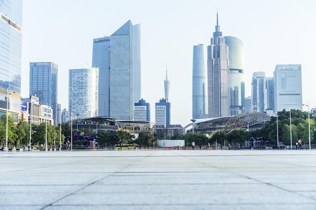 Вид на город с земли