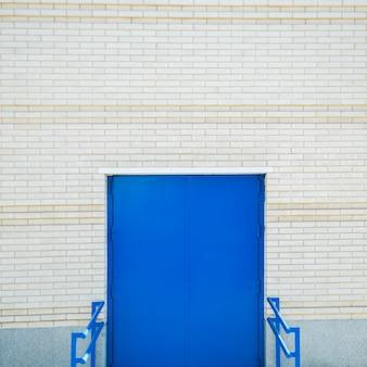 City wall with door