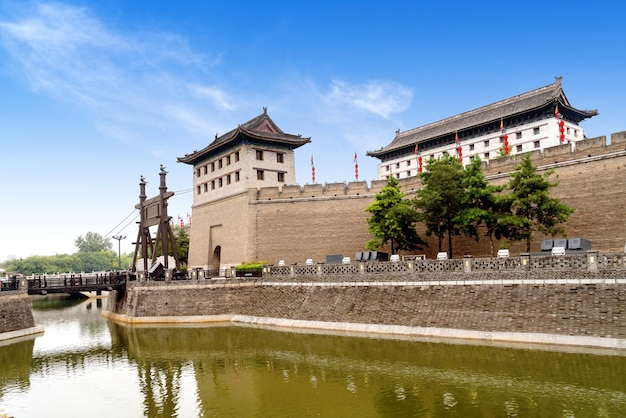 City wall of xi'an, yongning gate, sothern gate