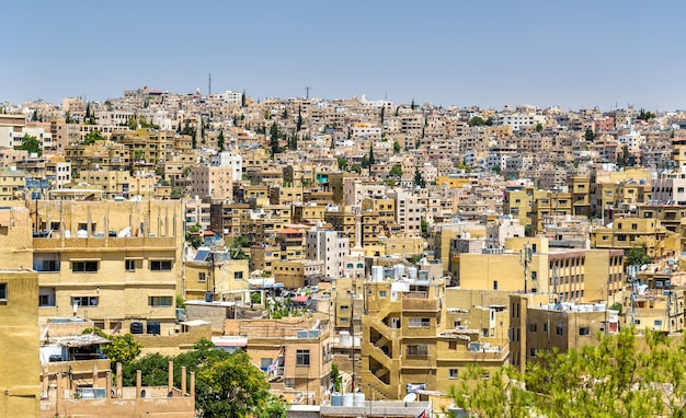 Cityscape of amman, the capital and most populous city of jordan