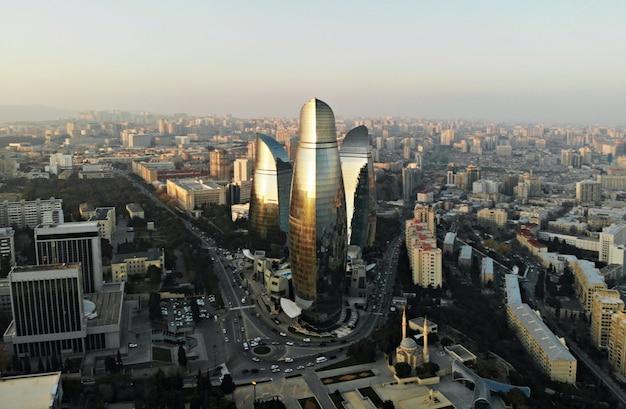 Cityscape of baku, capital city of azerbaijan