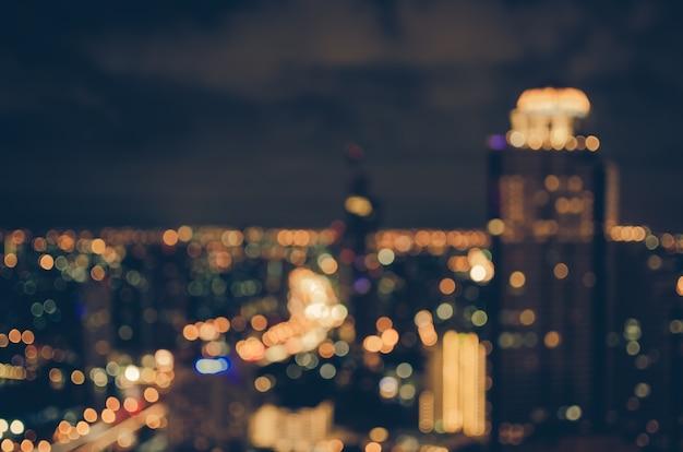 도시 풍경 bokeh, 흐린 사진, 빈티지 색조
