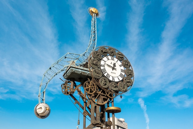 Cityscape of century clock  in tianjin