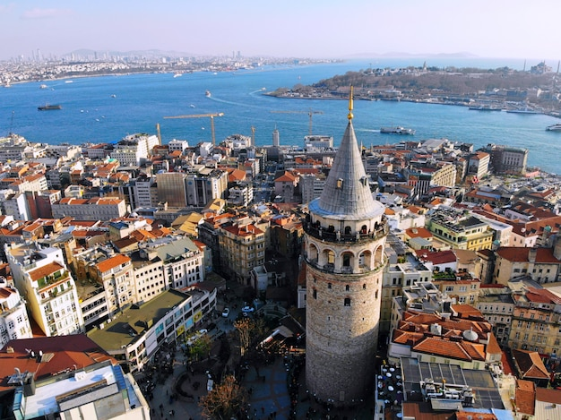 Cityscape of city of istanbul in turkey
