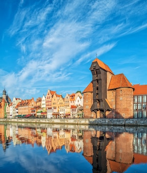 Cityscape of gdansk in the morning