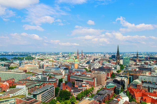 Cityscape of hamburg in germany