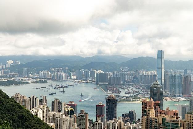 Cityscape of hong kong city